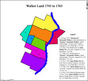 Land transactions of the Walker family on Walkers Creek from 1743 to 1763