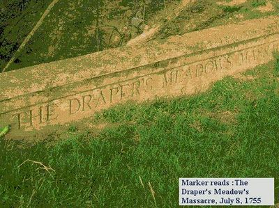 "Draper's Meadow Massacre Marker, which is located on what is now the Virginia Tech ""Duck Pond"" at Virginia Tech University in Blacksburg, Virginia"