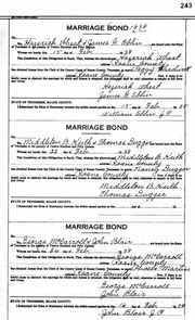 Marriage Bond: Dugger/Keith