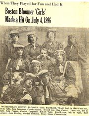 Bloomer Baseball 4 July 1896