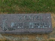 Tombstone of Walter and Elsie Weaver
