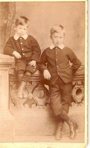 John (right) with Brother Harry. Holme c1895 courtesy of Margaret Lindley