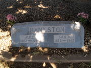 burial marker - Sam & Alice Bankston - Stith, Texas