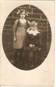 Kathleen with Brother Clifford c1913 courtesy of Margaret Lindley