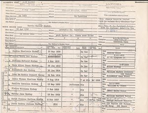 J J Scheffelin Family Group Sheet