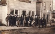 Homesteaders in front of the Hazelton Land Agency
