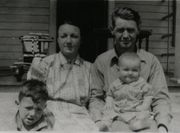 George, Connie, George Gene, and Donald Bradley 1941