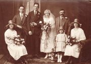 At his brother Stewart's wedding in 1925