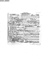 On death certificate of wife Cora