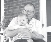 Clayton holding Grandson, Early 1961