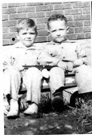 George Gene Bradley age 4 and Clarence Tudor age 5.
