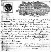 Letters Testamentary to T. M. Coker in estate of Elijah Coker