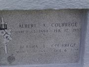 Headstone - Bertha and Albert Courrege