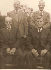 Percy Howard with Brothers John, Harry and Arthur. Photo Courtesy of Margaret Lindley