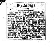 Olie & Miriam's marriage-newspaper clipping