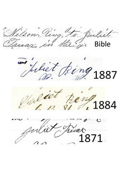 Juliet's signature compared to bible