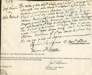 Marriage record of Josef Naquin and Celeste Prechant - 27 July 1812