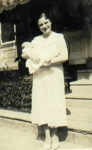 Laura and her first child (1935)