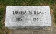 Tombstone of Orpha Beal