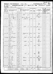 Michael, Mary and Eliza in the 1860 Census