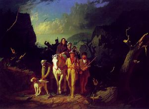 Daniel Boone Escorting Settlers through the Cumberland Gap, George Caleb Bingham, oil on canvas, 1851–5