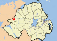 Location Map for Castlederg, Tyrone, Ireland