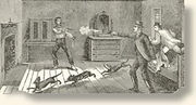 Killing of Billy the Kid, from a contemporary illustration