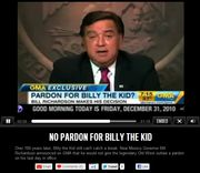 Good Morning America interview with Gov. Bill Richardson announcing his decision to refuse to pardon Billy the Kid
