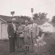 Dewey Butterfield, Ina Beal, Florence Butterfield, and Charles Beal in Waterloo