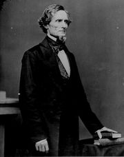 Jefferson Davis, ca 1861, by Mathew Brady.