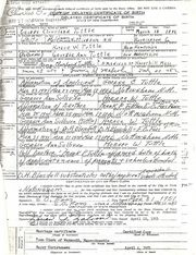 Affirming delayed birth certificate for George C Tuttle