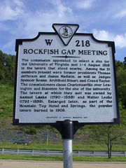 Rockfish Gap Meeting Historical Marker