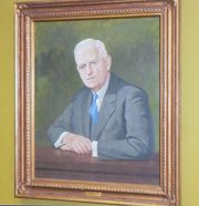 Portrait hanging in the Davis Co. Boardroom