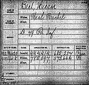 Civil War Pension Index Hiram Beal