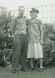 Suzie Ashburn and A D Ashburn c 1948