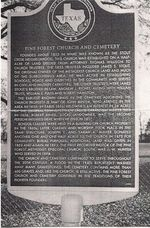 Pine Forest Texas Historical Marker (click image for transcript)