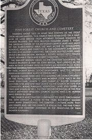 Pine Forest Cemetery Historical Marker