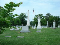 Confederate monument & circle of Unknown graves