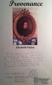 Elizabeth Patton-Crockett portrait certificate of authenticity