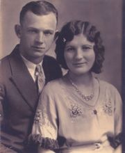 Wayne & Mildred's Wedding Pix - 1931