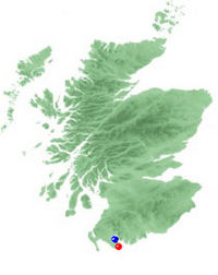 Blue Dot: Wigton; Red Dot: Whitehorn