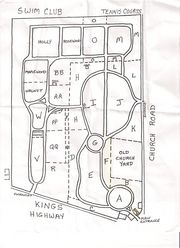 Map of Colestown Cemetery