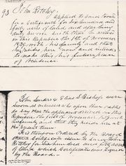 John Richey Headright Certificate Sworn Statement 7 Nov 1839
