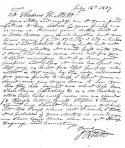 Letter from father to Andrew at Mr. Chaus school, 1837