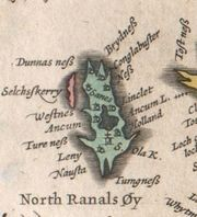 1654 map of the island