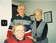 Ken Schaefer [standing] with sister-in-law Laura (Daniels) Murray[standing] and wife Alice (Daniels) Schaefer [sitting]