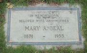 Tombstone of Mary A. Walters Beal at Forest Lawn Glendale, CA