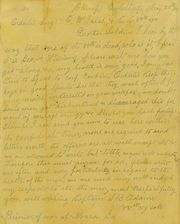 Letter 20 May 1864 to Sgt. Edgar W. Irish from Camp Oglethorpe