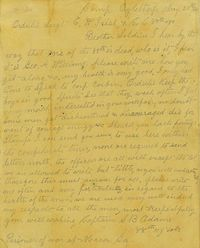 Letter from Capt. Samuel Adams 20 May 1864