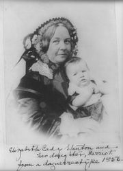 Elizabeth Cady Stanton and her daughter, Harriot--from a daguerreotype 1856.